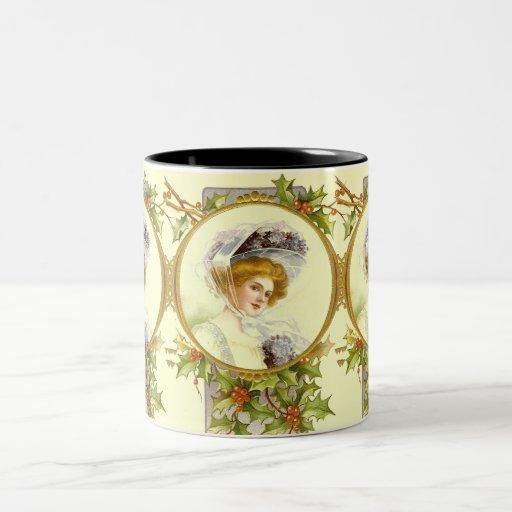 Taza de la señora café del Victorian del vintage