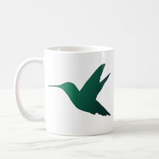 Taza de la silueta del colibrí
