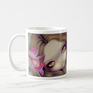 """Taza """"de la sirena delicada de la orquídea"""""""