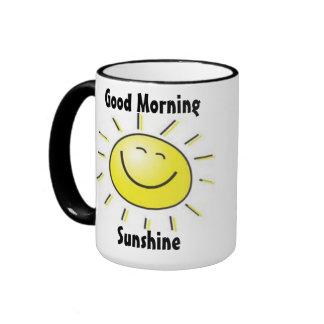 Taza de la sol de la buena mañana