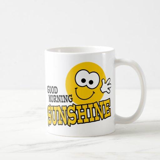 Taza de la sol de la buena mañana taza básica blanca