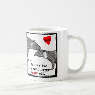 Taza de la tarjeta del día de San Valentín de