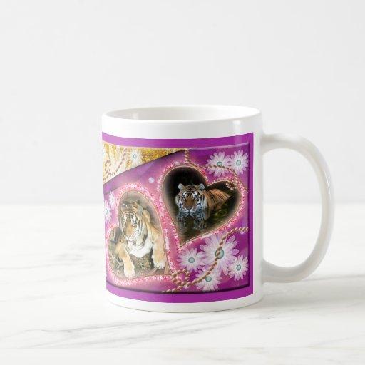 Taza de la tarjeta del día de San Valentín del tig
