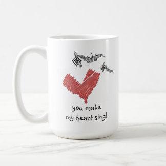 ¡Taza de la tarjeta del día de San Valentín, usted Taza