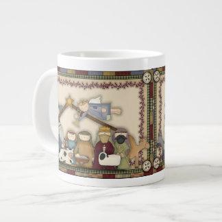 Taza de la taza de café de la natividad del día de taza grande