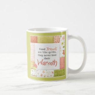 Taza de la taza de café del diseño del edredón del