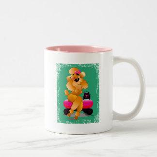 Taza de la taza de café del estilo de los años 50