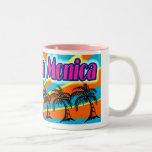 Taza de la taza de las palmeras de Santa Mónica 5