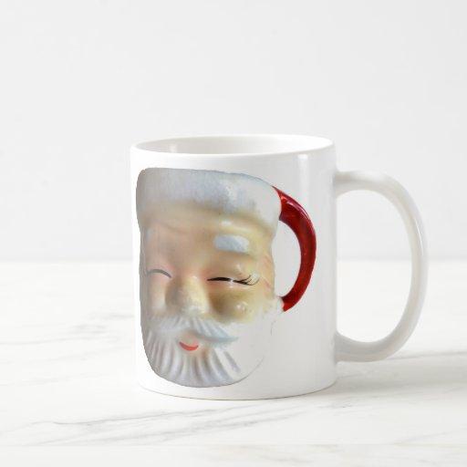 Taza de la taza de Santa del vintage (centelleo)