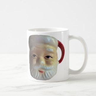 Taza de la taza de Santa del vintage (ojos abierto