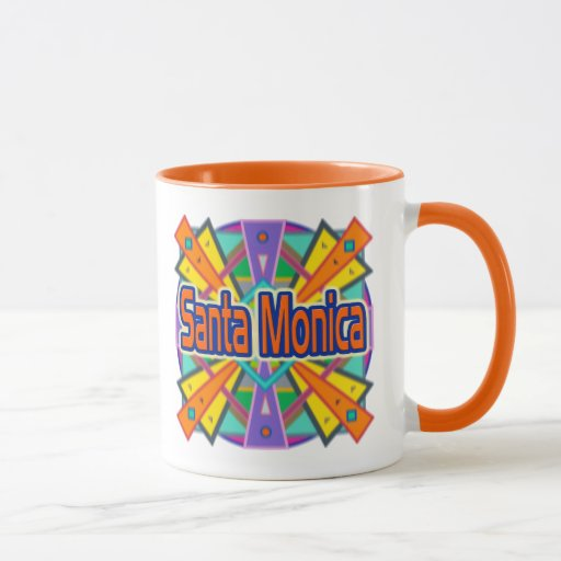 "Taza de la taza de ""Santa Mónica"" del diseño de la"