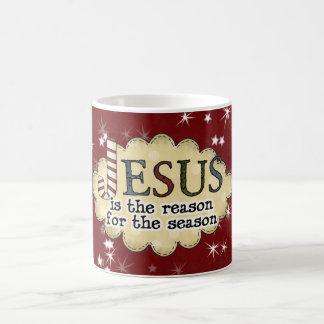 Taza de la taza del navidad de la estación de la r
