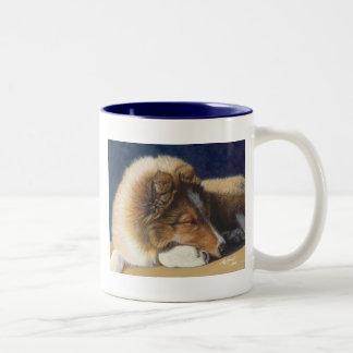 Taza de la taza del perro pastor de Sheltie