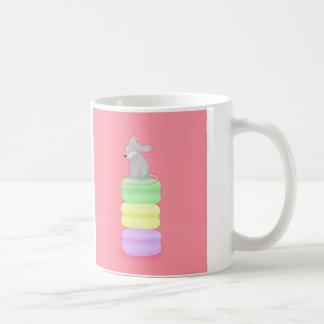 taza de la taza del ratón y de café de los macaron