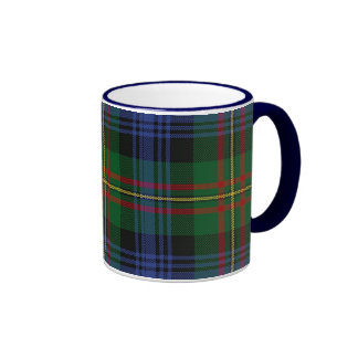 Taza de la tela escocesa de MacLaren, manija azul