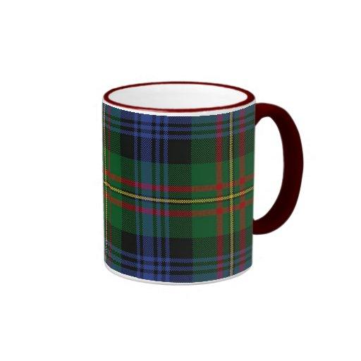 Taza de la tela escocesa de MacLaren, manija roja