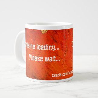 Taza de la terracota del cargamento del cafeína taza grande