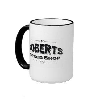 Taza de la tienda de la velocidad de Roberts