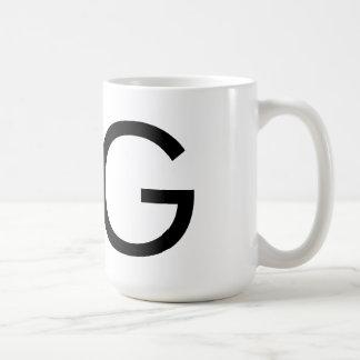 """Taza de la tipografía """"G"""" de Futura"""