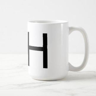 """Taza de la tipografía """"H"""" de Futura"""