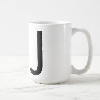 "Taza de la tipografía ""J"" de Futura"