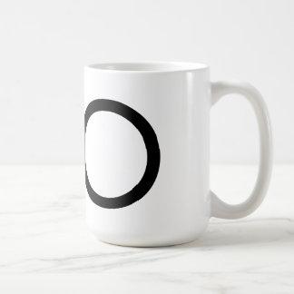 """Taza de la tipografía """"O"""" de Futura"""