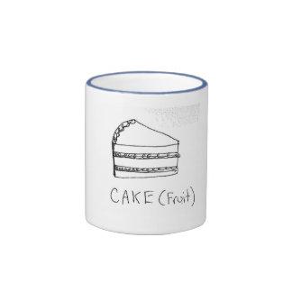 taza de la torta = de la fruta