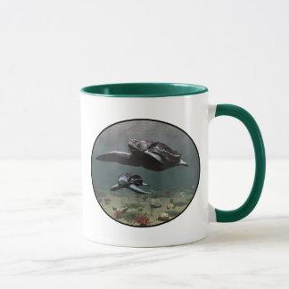 Taza de la tortuga de Leatherback
