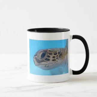 Taza de la tortuga de mar verde
