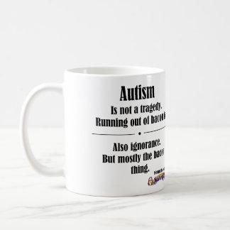 Taza de la tragedia del tocino del autismo