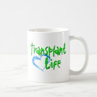 Taza de la vida del trasplante