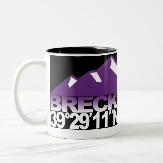 Taza de la violeta de GPS de la montaña de Breck
