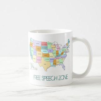 Taza de la zona del discurso libre