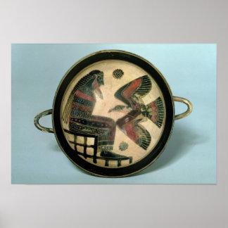 Taza de Laconian que representa Zeus y el águila Poster