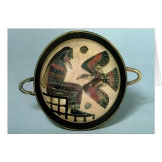 Taza de Laconian que representa Zeus y el águila Felicitacion