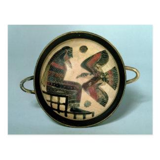 Taza de Laconian que representa Zeus y el águila Postal