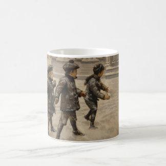 Taza de las bolas de la nieve del vintage