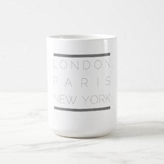Taza de las ciudades de la moda