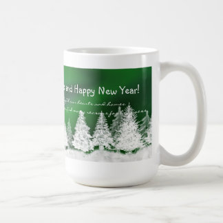 Taza de las Felices Navidad - árboles de navidad