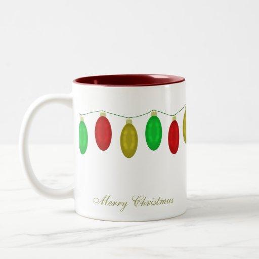 Taza de las Felices Navidad de las luces de navida