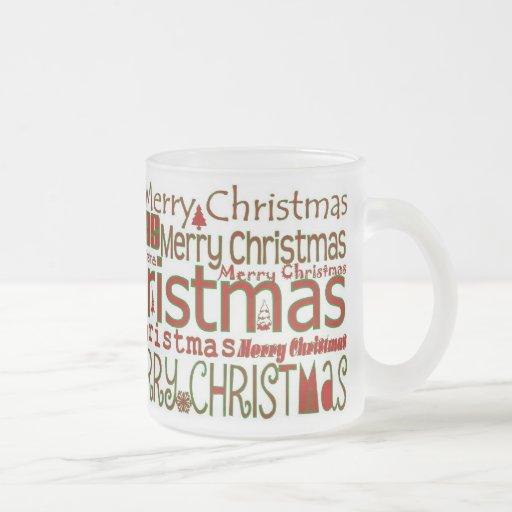 Taza de las Felices Navidad - helada