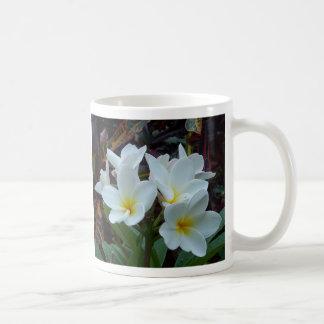 Taza de las flores blancas