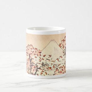 Taza de las flores de cerezo de Hokusai el monte F