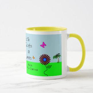 "Taza de las ""flores raras"""