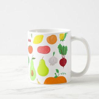 Taza de las frutas y verduras