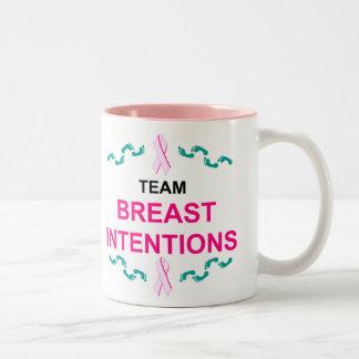 Taza de las intenciones del pecho del equipo