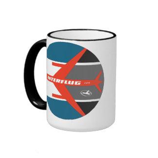 Taza de las líneas aéreas de Interflug del vintage