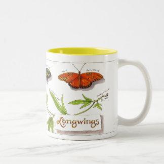 Taza de las mariposas de Longwing