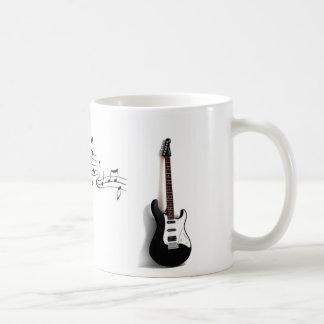 Taza de las notas de la guitarra y de la música
