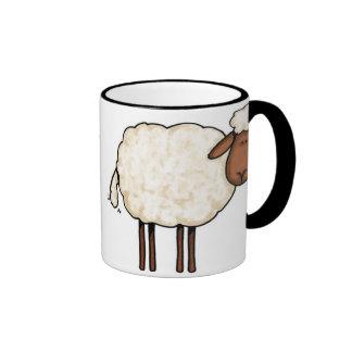 taza de las ovejas blancas